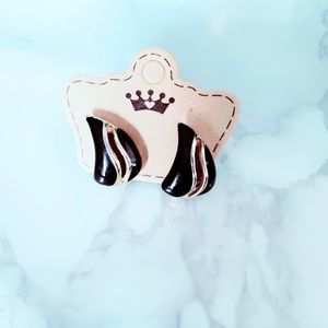 Black and Gold Vintage Earrings